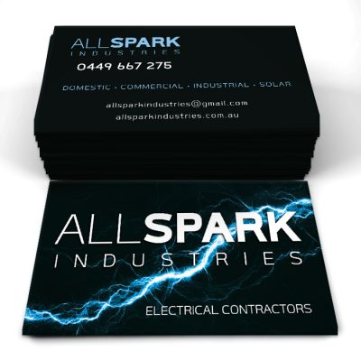 All Spark Industries logo and collateral