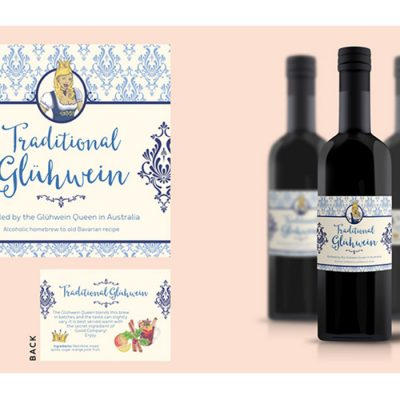 Gluhwein Queen product label