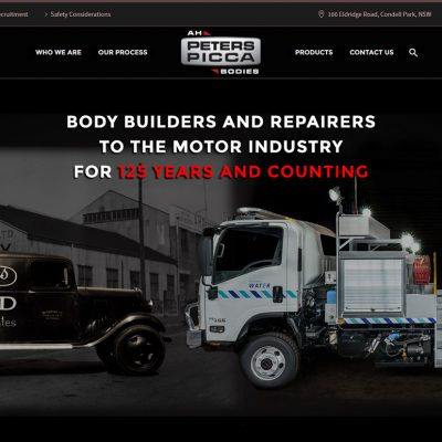 AH Peters Picca Bodies Website